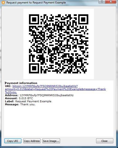 Bitcoin Payment QR Code