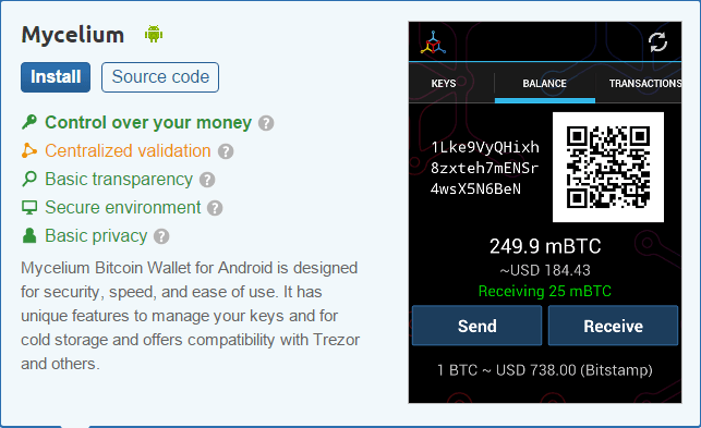 mycelium bitcoin wallet mobile