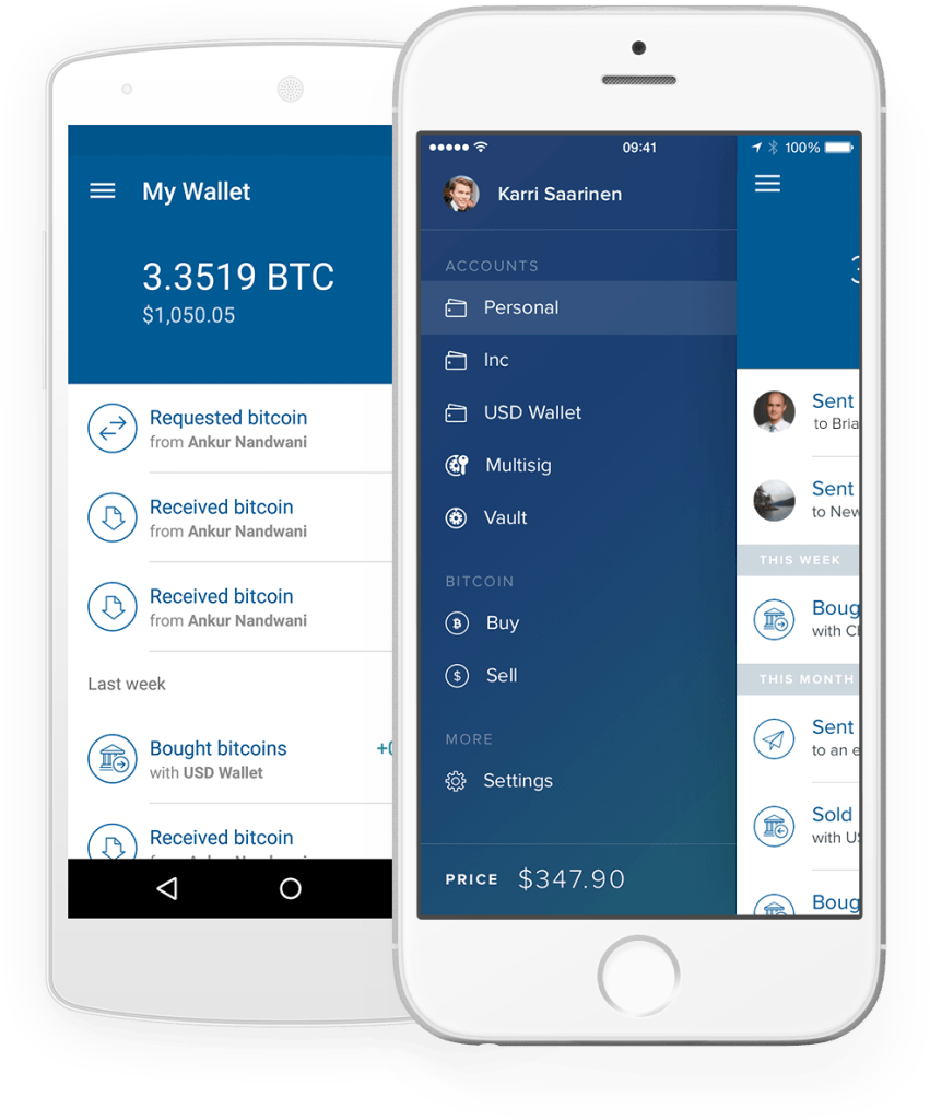 bitcoin mobile wallet for coinbase